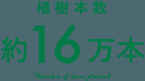 植樹本数約16万本